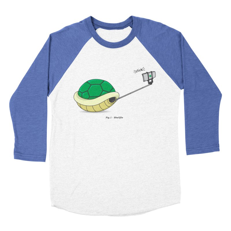 Shellfie Men's Baseball Triblend Longsleeve T-Shirt by Wasabi Snake