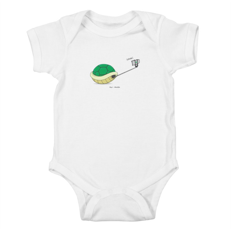 Shellfie Kids Baby Bodysuit by Pete Styles' Artist Shop