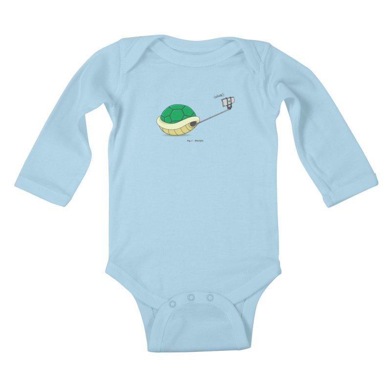 Shellfie Kids Baby Longsleeve Bodysuit by Wasabi Snake