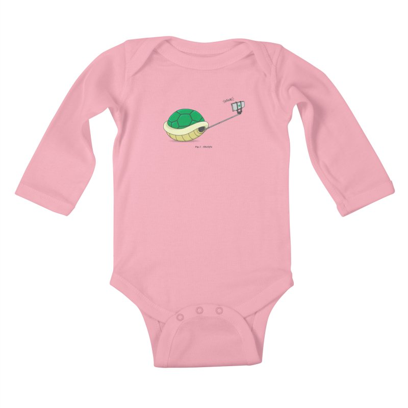 Shellfie Kids Baby Longsleeve Bodysuit by Pete Styles' Artist Shop