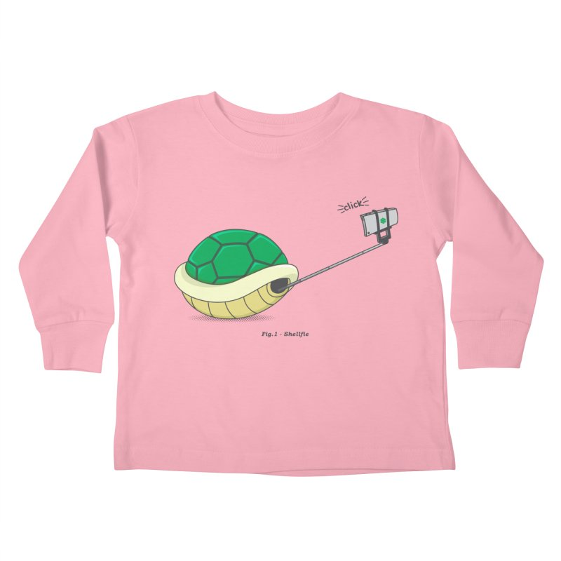 Shellfie Kids Toddler Longsleeve T-Shirt by Wasabi Snake