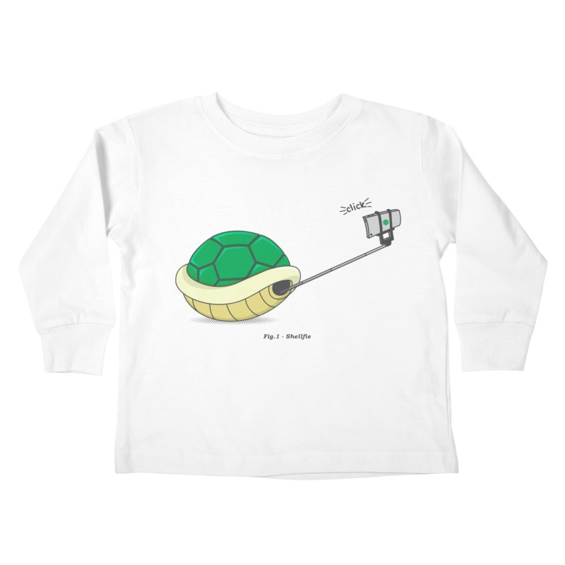 Shellfie Kids Toddler Longsleeve T-Shirt by Wasabi Snake