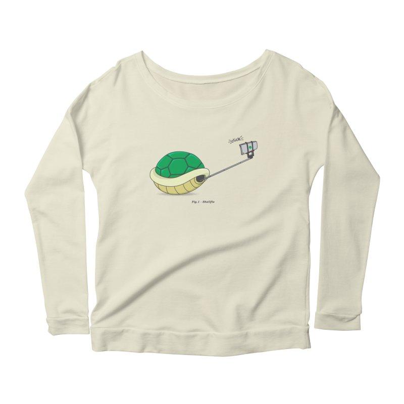 Shellfie Women's Scoop Neck Longsleeve T-Shirt by Wasabi Snake
