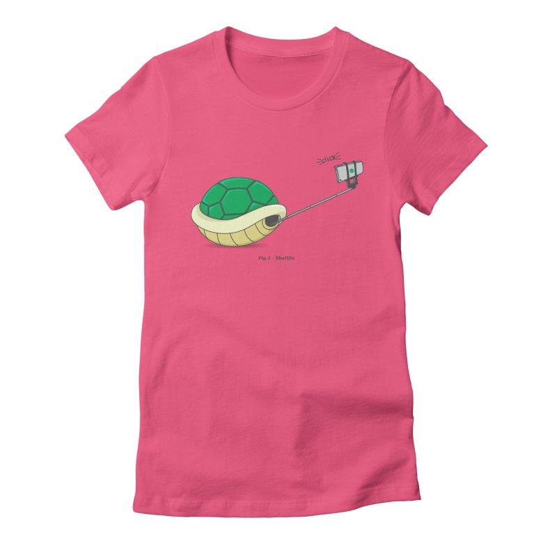 Shellfie Women's Fitted T-Shirt by Wasabi Snake