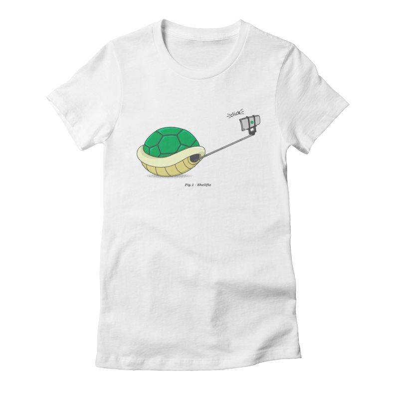 Shellfie Women's Fitted T-Shirt by Wasabi Snake