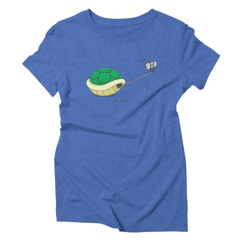Shellfie Women's Triblend T-Shirt by Wasabi Snake