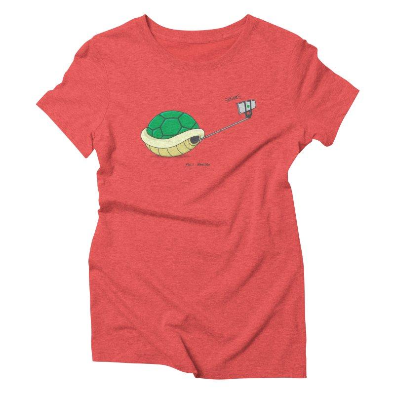 Shellfie Women's Triblend T-Shirt by Pete Styles' Artist Shop