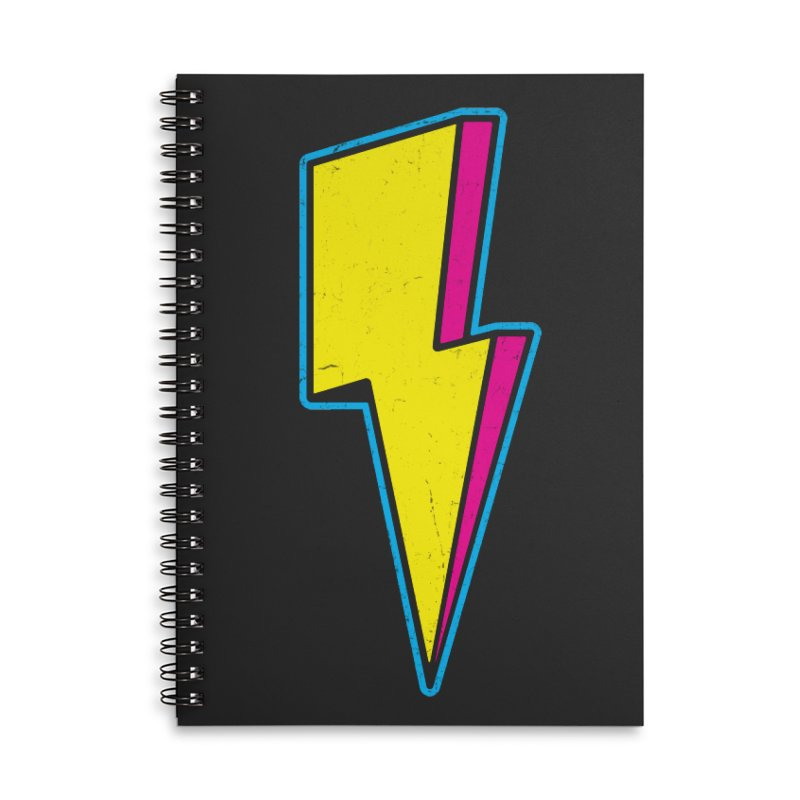 Ride The Lightning Accessories Lined Spiral Notebook by Wasabi Snake