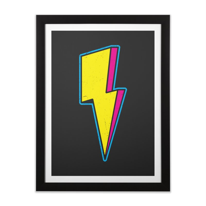 Ride The Lightning Home Framed Fine Art Print by Wasabi Snake