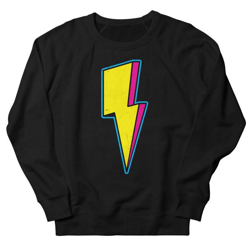 Ride The Lightning Men's French Terry Sweatshirt by Wasabi Snake
