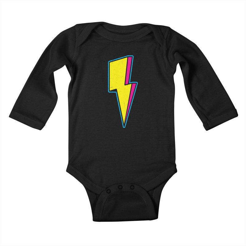Ride The Lightning Kids Baby Longsleeve Bodysuit by Wasabi Snake
