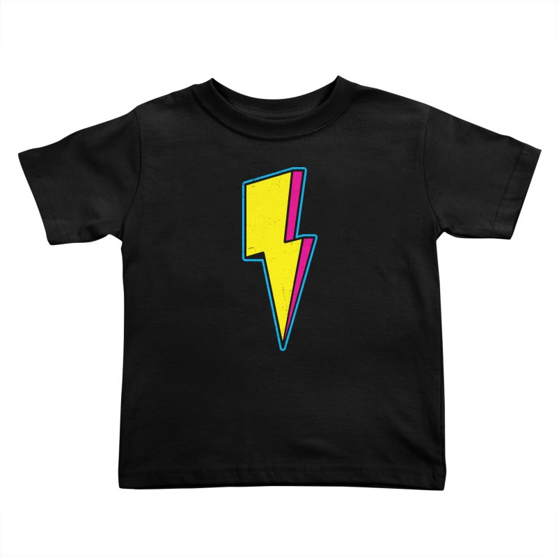 Ride The Lightning Kids Toddler T-Shirt by Pete Styles' Artist Shop