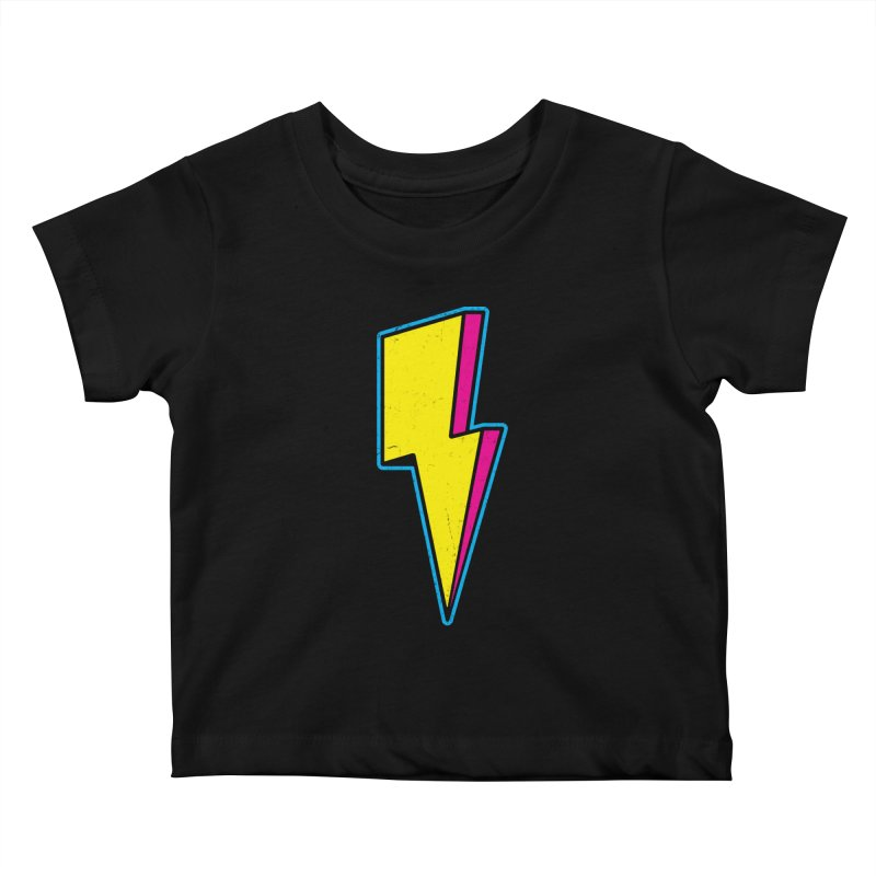 Ride The Lightning Kids Baby T-Shirt by Pete Styles' Artist Shop