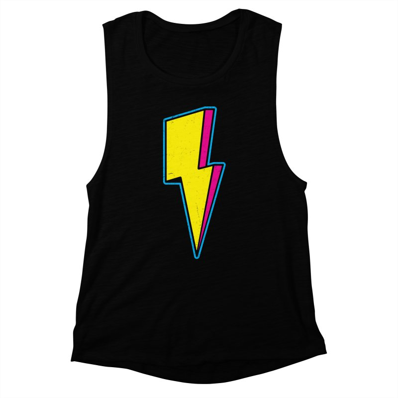 Ride The Lightning Women's Muscle Tank by Wasabi Snake