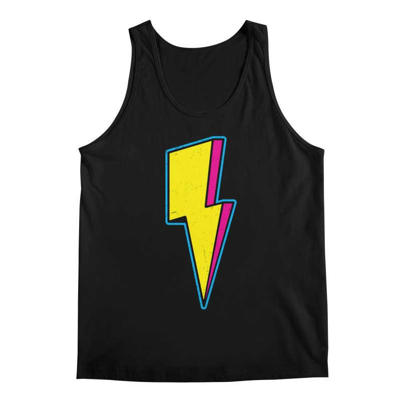 Ride The Lightning Men's Regular Tank by Wasabi Snake