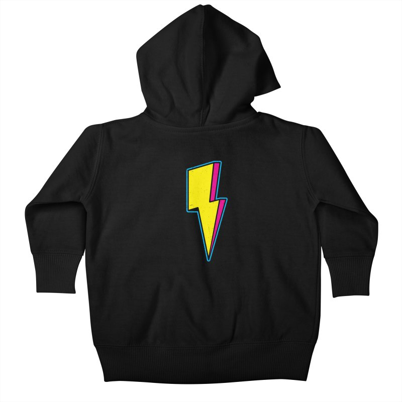 Ride The Lightning Kids Baby Zip-Up Hoody by Wasabi Snake