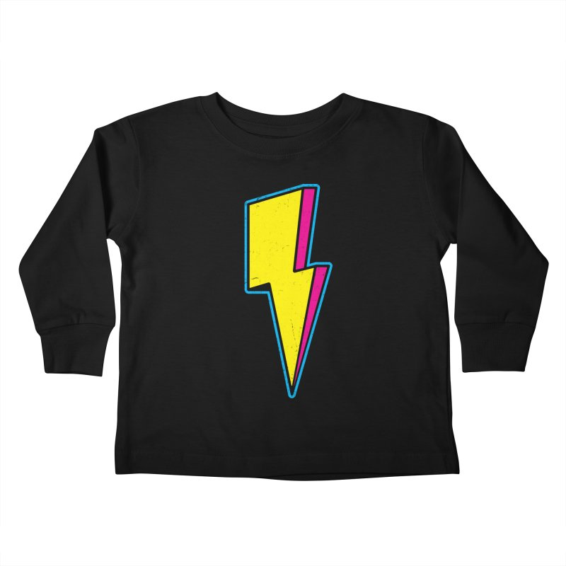 Ride The Lightning Kids Toddler Longsleeve T-Shirt by Wasabi Snake