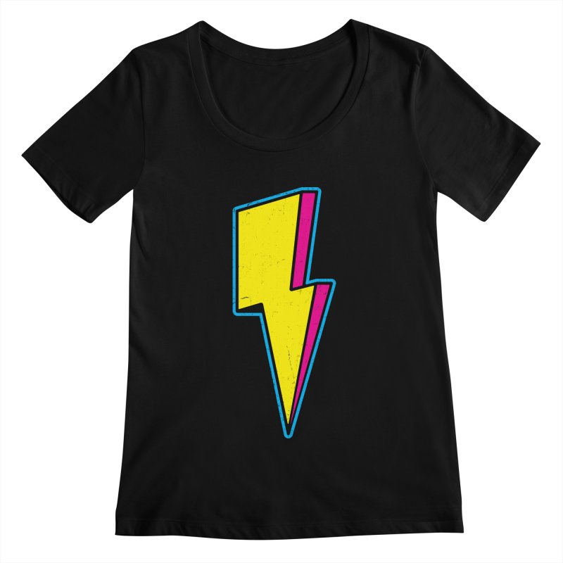 Ride The Lightning Women's Scoopneck by Pete Styles' Artist Shop