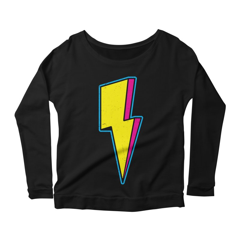 Ride The Lightning Women's Scoop Neck Longsleeve T-Shirt by Wasabi Snake