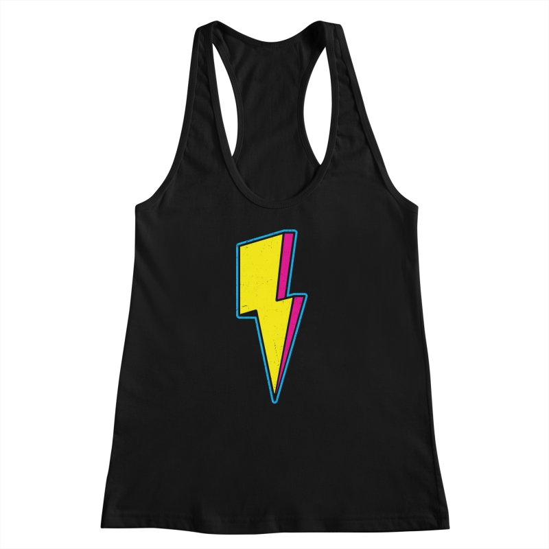 Ride The Lightning Women's Racerback Tank by Pete Styles' Artist Shop