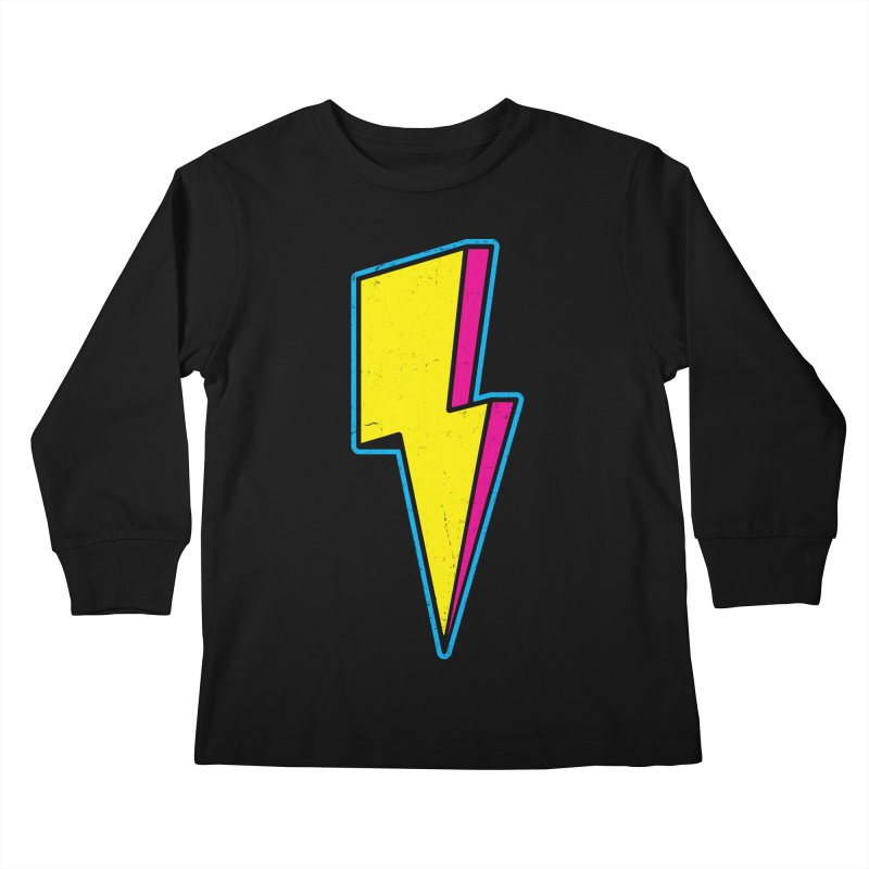 Ride The Lightning Kids Longsleeve T-Shirt by Wasabi Snake