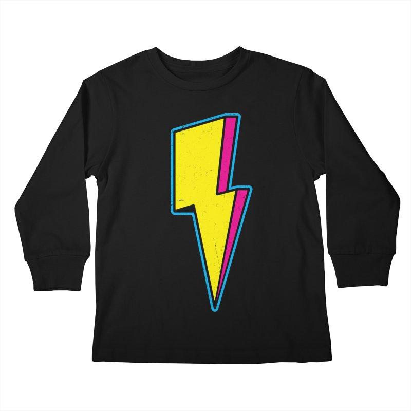 Ride The Lightning Kids Longsleeve T-Shirt by Pete Styles' Artist Shop