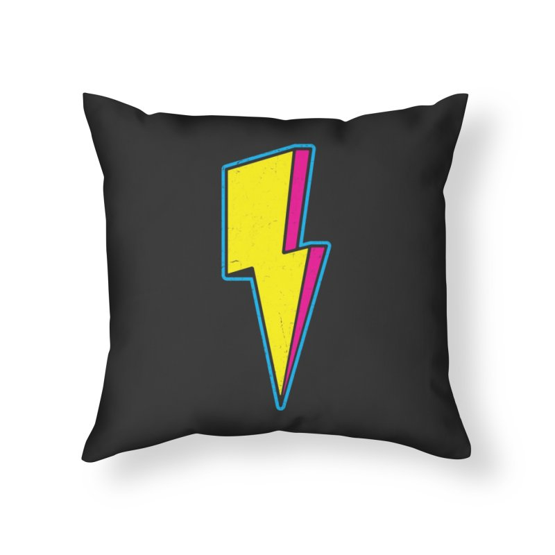 Ride The Lightning Home Throw Pillow by Wasabi Snake