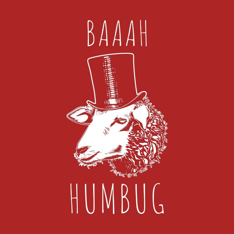 Baaah Humbug Grumpy Holiday Sheep Home Blanket by Wasabi Snake
