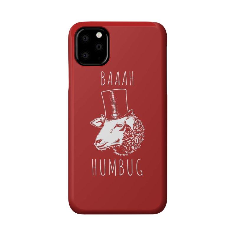 Baaah Humbug Grumpy Holiday Sheep Accessories Phone Case by Wasabi Snake