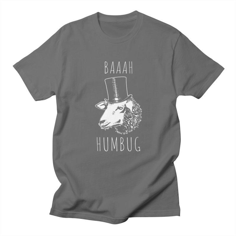 Baaah Humbug Grumpy Holiday Sheep Men's T-Shirt by Wasabi Snake