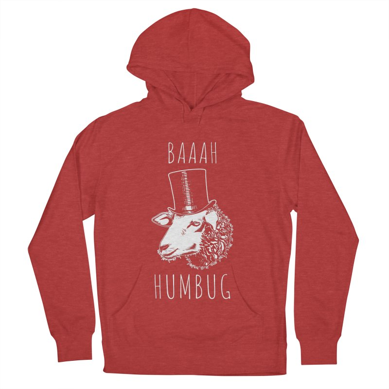 Baaah Humbug Grumpy Holiday Sheep Women's French Terry Pullover Hoody by Wasabi Snake