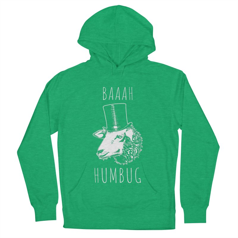Baaah Humbug Grumpy Holiday Sheep Men's French Terry Pullover Hoody by Wasabi Snake