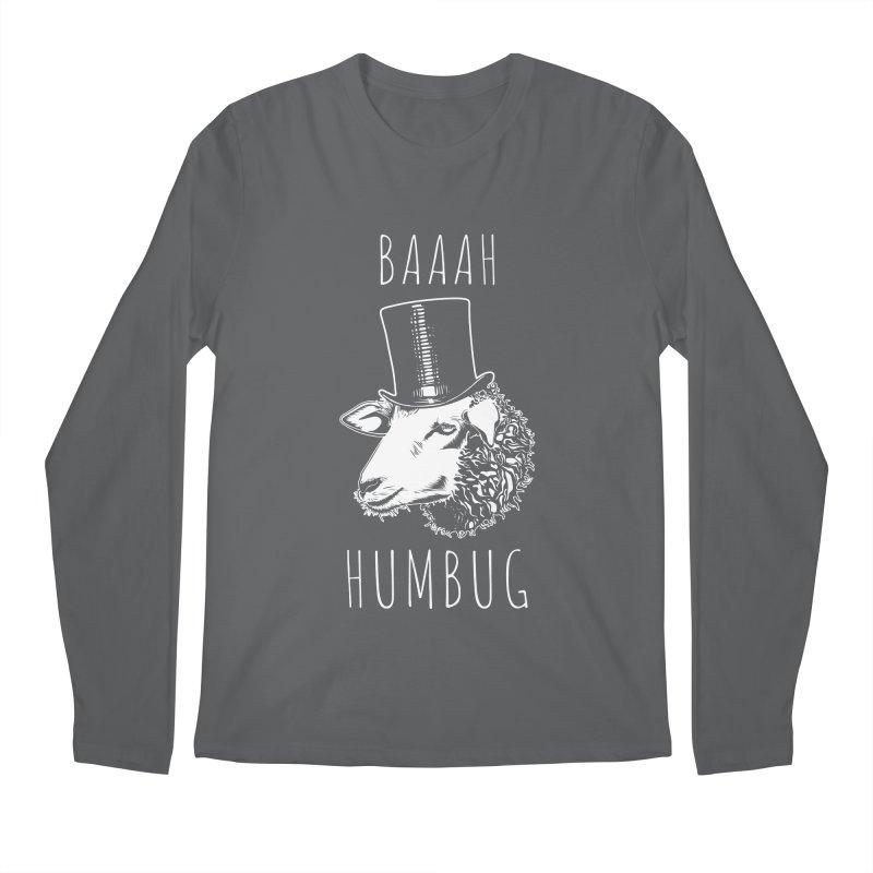 Baaah Humbug Grumpy Holiday Sheep Men's Longsleeve T-Shirt by Wasabi Snake