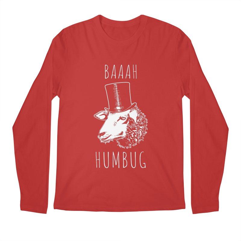 Baaah Humbug Grumpy Holiday Sheep Men's Regular Longsleeve T-Shirt by Wasabi Snake