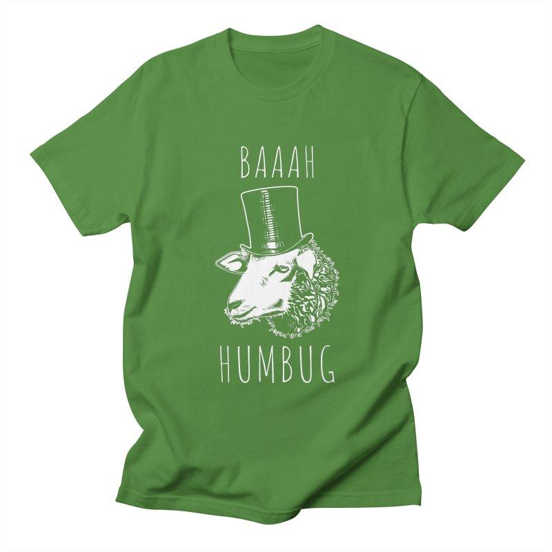 Baaah Humbug Grumpy Holiday Sheep Women's Regular Unisex T-Shirt by Wasabi Snake