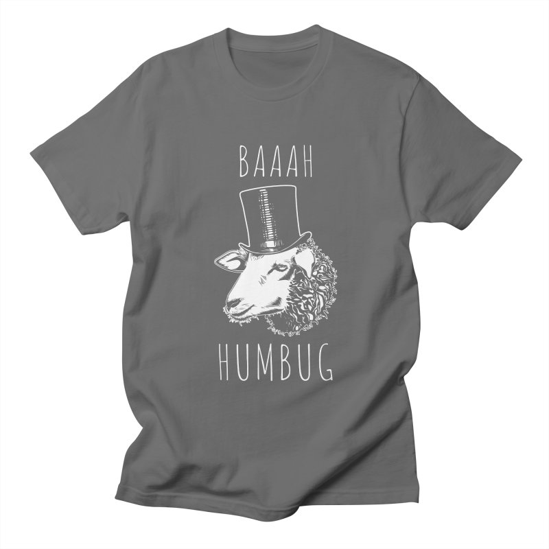 Baaah Humbug Grumpy Holiday Sheep Men's T-Shirt by Wasabi Snake