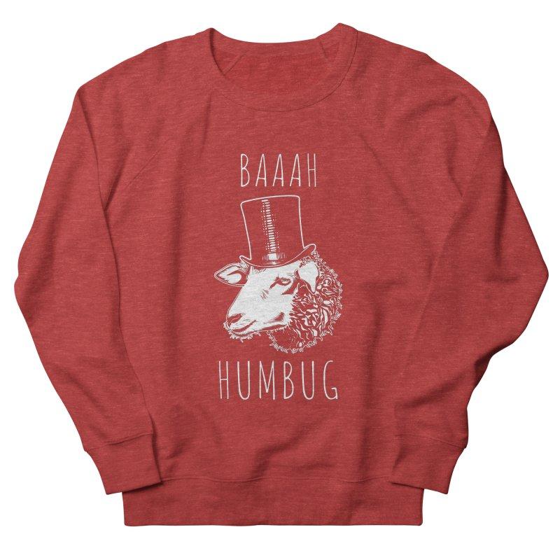 Baaah Humbug Grumpy Holiday Sheep Women's French Terry Sweatshirt by Wasabi Snake