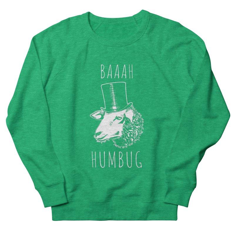 Baaah Humbug Grumpy Holiday Sheep Men's French Terry Sweatshirt by Wasabi Snake