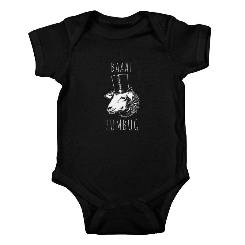 Baaah Humbug Grumpy Holiday Sheep Kids Baby Bodysuit by Wasabi Snake