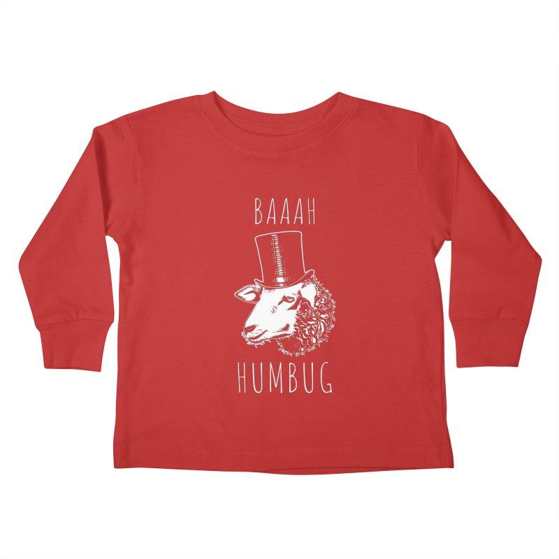 Baaah Humbug Grumpy Holiday Sheep Kids Toddler Longsleeve T-Shirt by Wasabi Snake