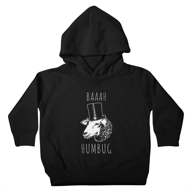 Baaah Humbug Grumpy Holiday Sheep Kids Toddler Pullover Hoody by Wasabi Snake