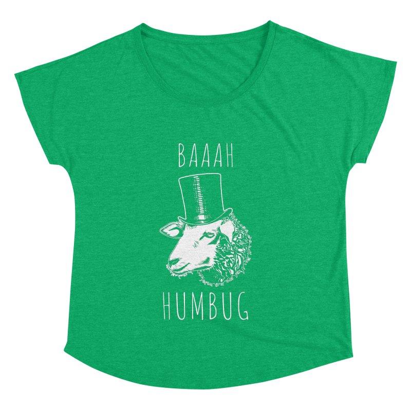 Baaah Humbug Grumpy Holiday Sheep Women's Dolman by Pete Styles' Artist Shop