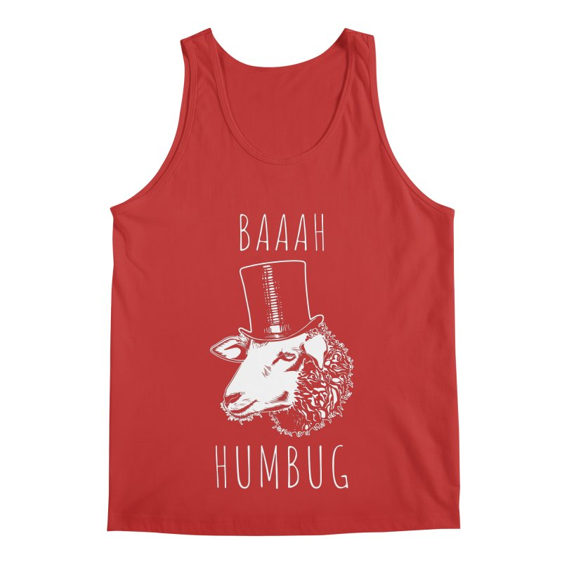 Baaah Humbug Grumpy Holiday Sheep Men's Regular Tank by Wasabi Snake