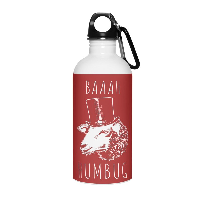 Baaah Humbug Grumpy Holiday Sheep Accessories Water Bottle by Wasabi Snake