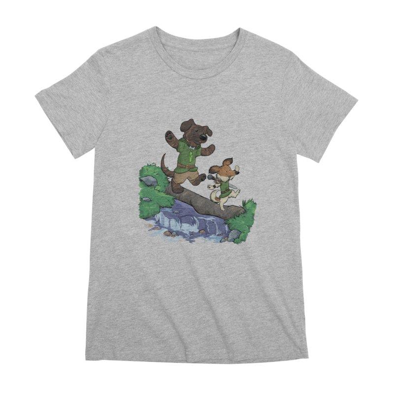 Adventure Buddies Women's Premium T-Shirt by DnDoggos's Artist Shop