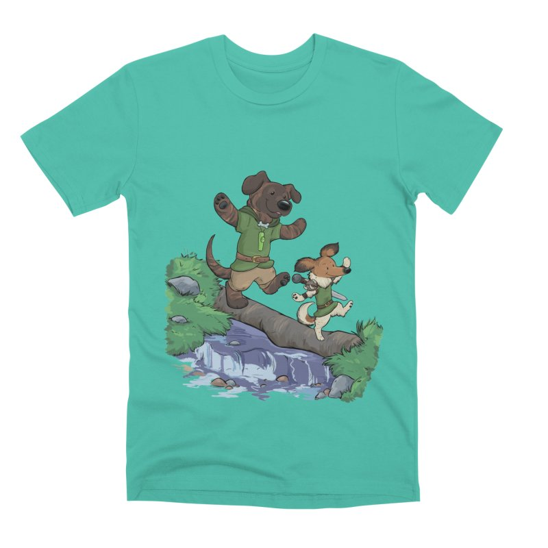 Adventure Buddies Men's Premium T-Shirt by DnDoggos's Artist Shop