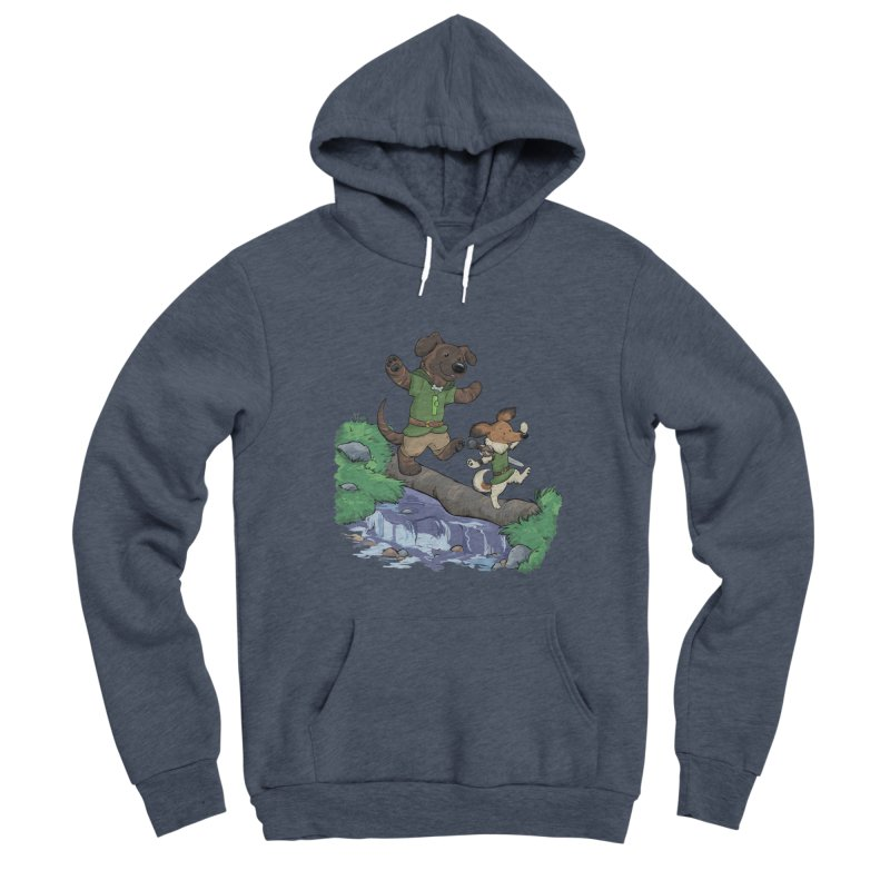 Adventure Buddies Men's Sponge Fleece Pullover Hoody by DnDoggos's Artist Shop
