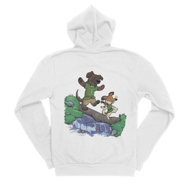 Adventure Buddies Men's Sponge Fleece Zip-Up Hoody by DnDoggos's Artist Shop