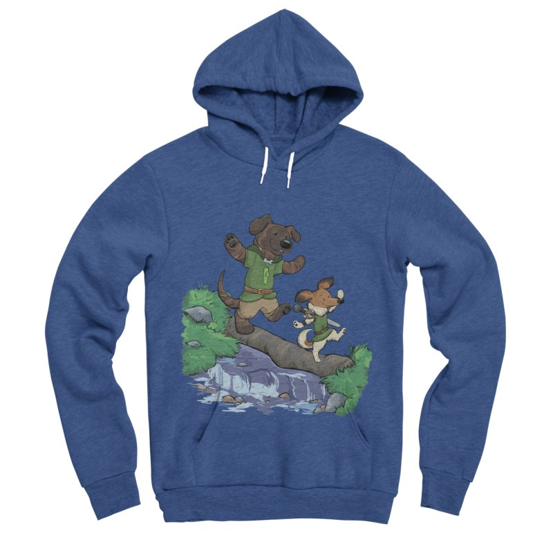 Adventure Buddies Women's Sponge Fleece Pullover Hoody by DnDoggos's Artist Shop