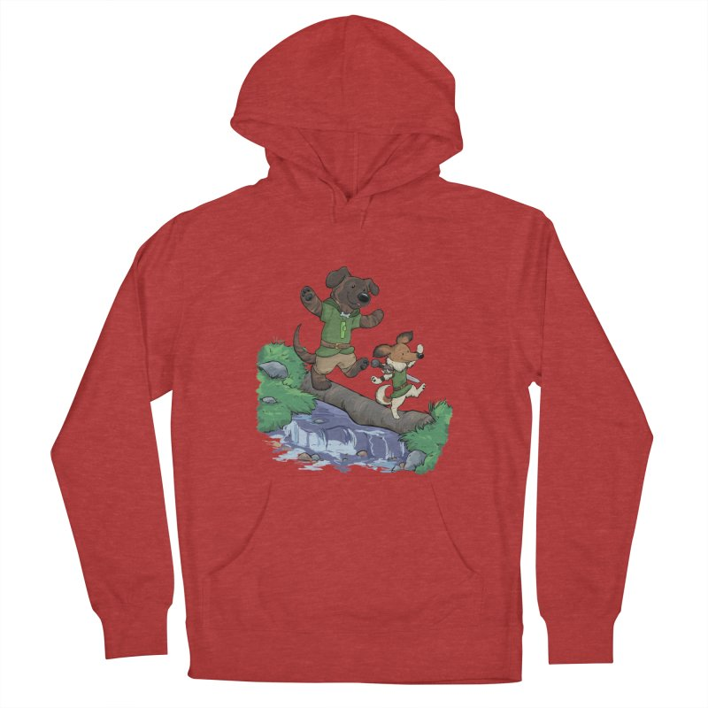 Adventure Buddies Women's French Terry Pullover Hoody by DnDoggos's Artist Shop